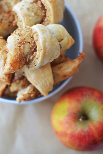 Rezept Apfel-Nuss-Hörnchen