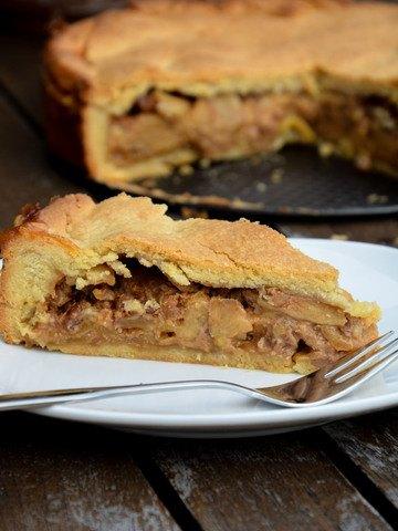 Rezept Apfel-Nuss-Torte mit Karamell