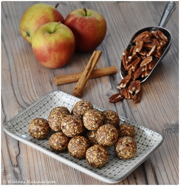 Rezept Apfel Pekan Energyballs