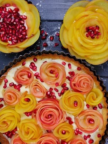 Rezept Apfel Rose Tarte