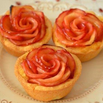 Rezept Apfel-Rosen-Tartelettes