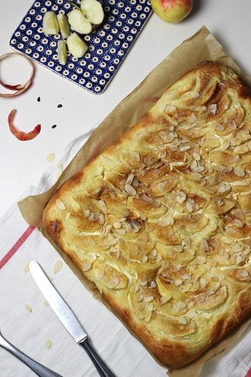 Rezept Apfel-Schmand-Blechkuchen