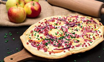 Rezept Apfel-Speck-Flammkuchen