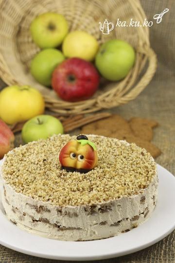 Rezept Apfel-Spekulatius-Torte (ohne backen)