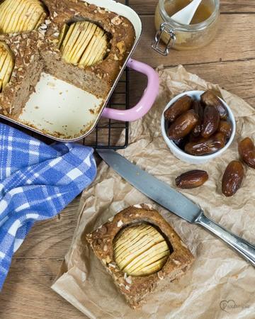 Rezept Apfel-Vollkornkuchen mit Nüssen