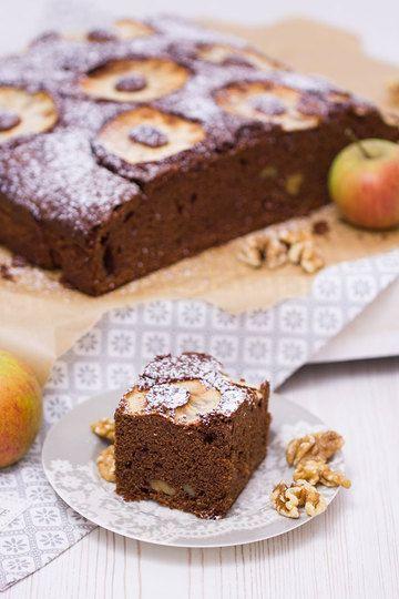 Rezept Apfel-Walnuss-Brownie