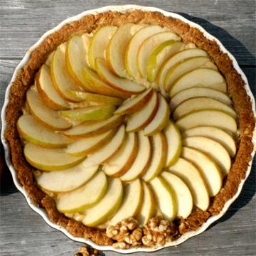 Rezept Apfel-Walnuss-Tarte (glutenfrei)