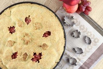 Rezept Apfel-Weintrauben-Pie mit dem gewissen Extra