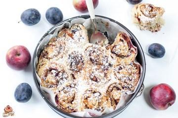 Rezept Apfel-Zwetschgen-Nuss-Schnecken
