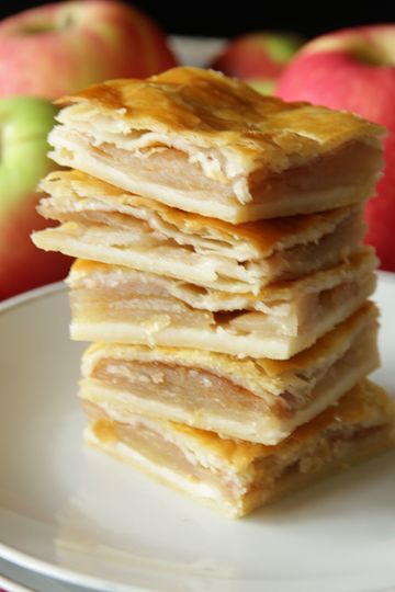 Rezept Apfelkuchen aus Topfenteig