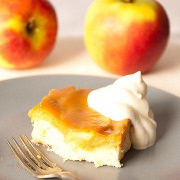 Rezept Apfelkuchen mit Karamellcreme