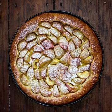 Rezept Apfelkuchen mit Kartoffelteig