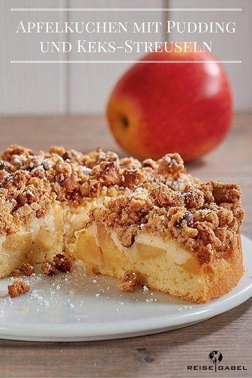 Rezept Apfelkuchen mit Pudding und Keks-Streuseln