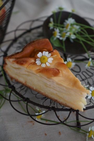 Rezept Apfelkuchen mit Sauerrahmcreme