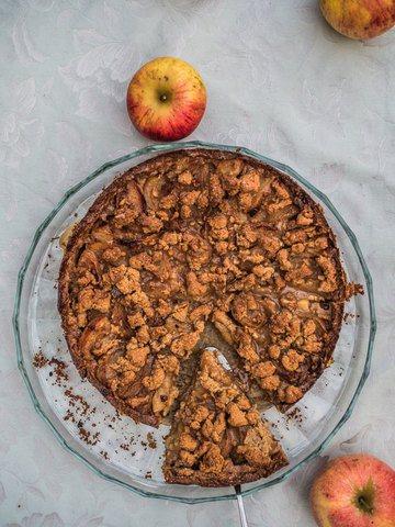 Rezept Apfelkuchen mit Streuseln und Spekulatius Aroma
