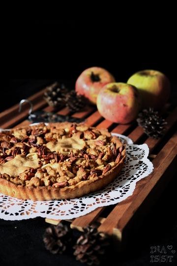 Rezept Apfelkuchen mit Vollkornstreusel und Pekannüssen