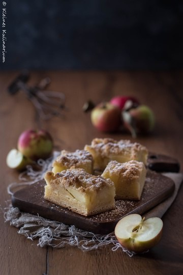 Rezept Apfelkuchen mit Zwillingsteig und Streuseln