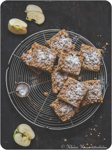 Rezept Apfelkuchen vom Blech mit Kardamomstreuseln