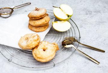 Rezept Apfelringe im Bierteig