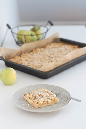 Rezept Apfelstreuselkuchen am Blech