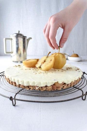 Rezept Apfeltarte mit Haferflocken und Vanillemousse
