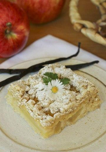 Rezept Apfelvanillekuchen mit Mandelcrumble