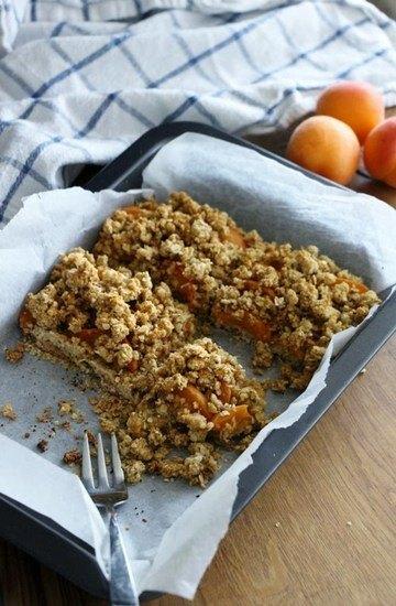 Rezept Aprikosen - Crumblekuchen