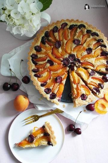 Rezept Aprikosen-Kirsch-Tarte mit Frangipane