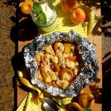 Rezept Aprikosen-Pfirsich Päckchen vom Grill