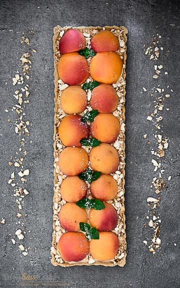 Rezept Aprikosen-Tarte mit Vanillepudding
