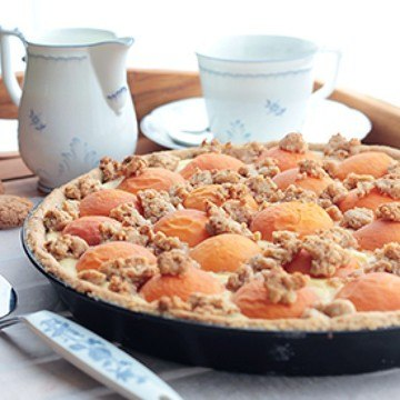 Rezept Aprikosentarte mit Streuseln