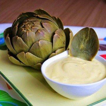Rezept Artischocke mit Knoblauch-Joghurt-Dipp