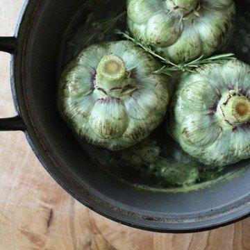 Rezept Artischocken mit Aioli & einem Zitronen-Oregano Dip