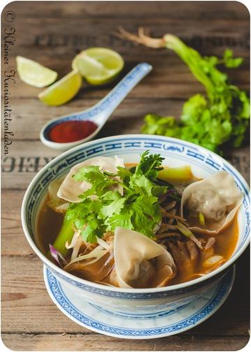 Rezept Asiasuppe mit Hähnchen-Wan-Tan