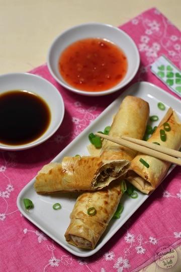 Rezept Asiatische Filoteigröllchen mit Chinakohl und Hackfleisch