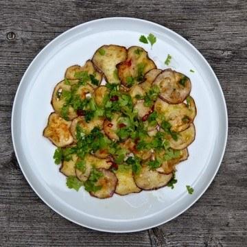 Rezept Asiatischer Auberginensalat mit Limonendressing