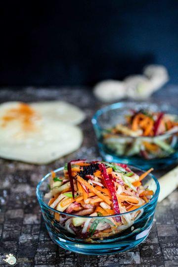 Rezept asiatischer Rettich-Karotten-Salat
