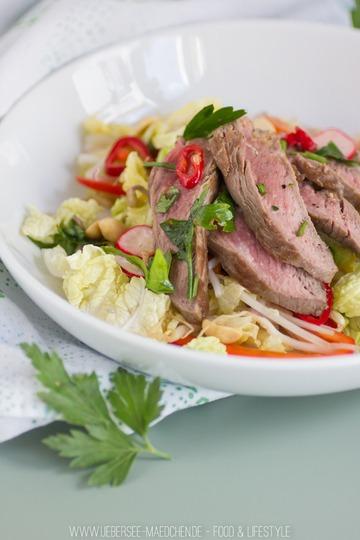 Rezept Asiatischer Salat mit Rindfleisch