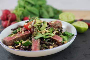 Rezept Asiatischer Steak Salat