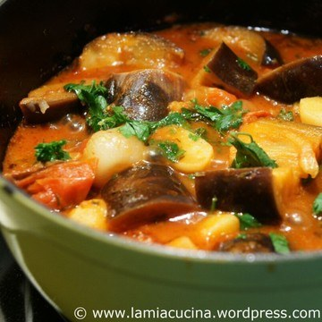 Rezept Auberginen in Tomatensauce