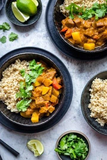 Rezept Auberginen Kartoffel Curry