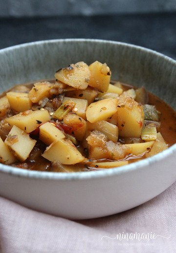 Rezept Auberginen-Kartoffel-Eintopf