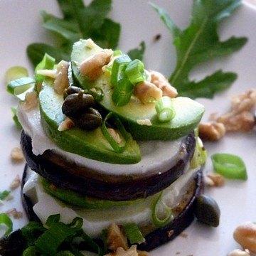 Rezept Auberginen-Mozzarella-Avocado Türmchen