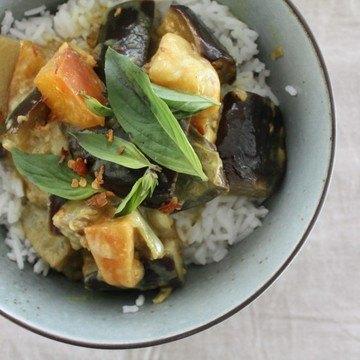 Rezept Auberginen-Pfirsich-Curry