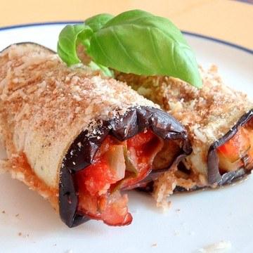 Rezept Auberginenröllchen mediterran