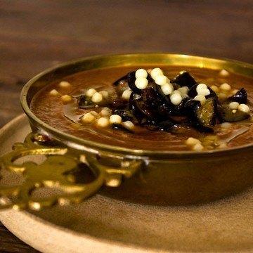 Rezept Auberginensuppe mit Riesencouscous