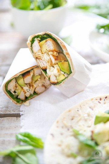 Rezept Avocado Chicken Burrito