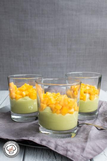 Rezept Avocado-Creme mit Kokosmilch und Mango