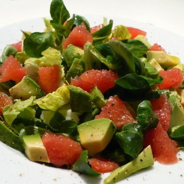 Rezept Avocado-Grapefruit-Salat