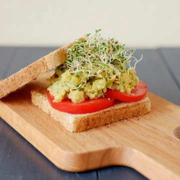 Rezept Avocado-Kichererbsen-Sandwich